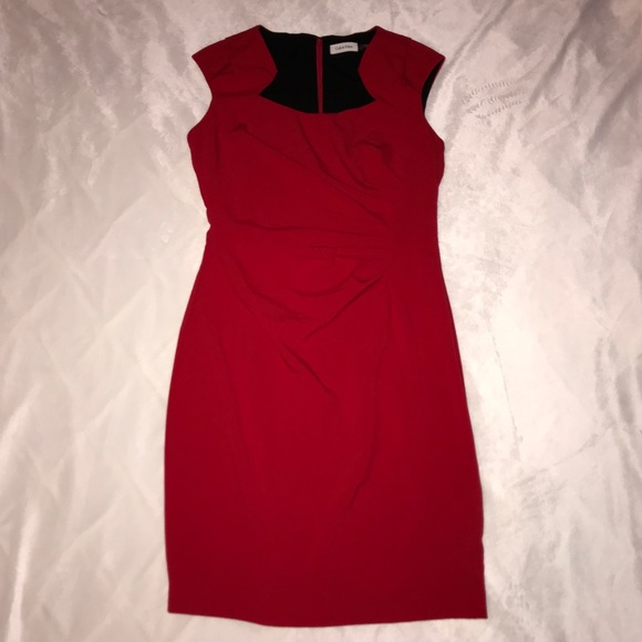Calvin Klein Dresses & Skirts - 10 Calvin Klein Sexy Red Dress with Pocket